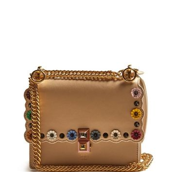 Kan I small flower-appliqué leather cross-body bag | Fendi | MATCHESFASHION.COM US