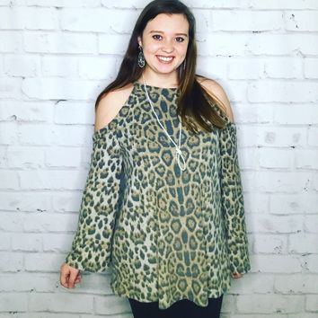 """Running Wild Leopard Top"""