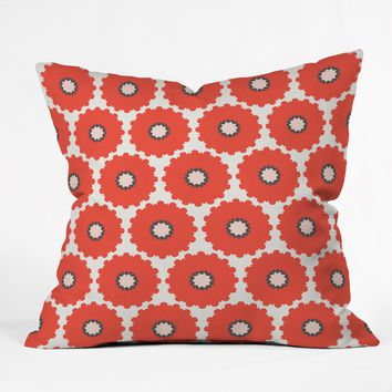 Holli Zollinger Coral Pop Throw Pillow