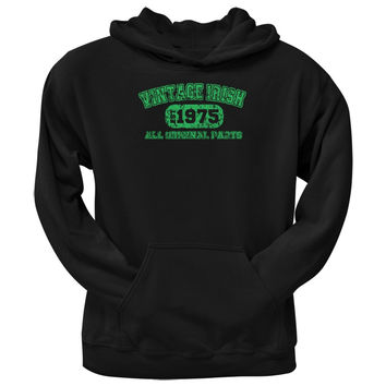 St. Patricks Day - Vintage Irish 1975 Black Adult Hoodie