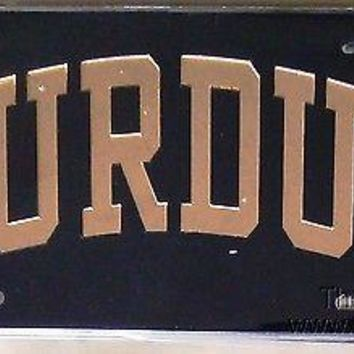 Purdue Boilermakers Black SD01419 Deluxe Laser Cut License Plate Tag University