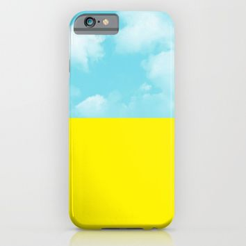 yellow and sky iPhone & iPod Case by ARTbyJWP