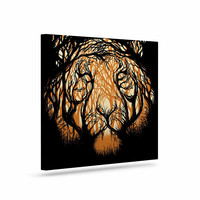 "Digital Carbine ""Hidden Hunter"" Orange Illustration Canvas Art"