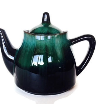 Blue Mountain Pottery Teapot, 1960s, BMP, Made in Canada