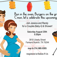 CoEd Backyard Baby BBQ Shower Invitation