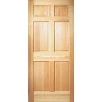 Masonite 36 in. x 80 in. 6-Panel Unfinished Fir Front Door Slab 87292 at The Home Depot - Mobile