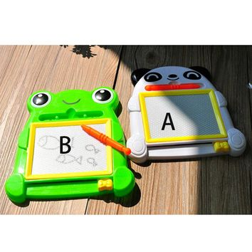 1pcwhite and Green Creative Kids Writing Painting Animals Frog Baby Educational Toys Preschool Tools Drawing Board for Children