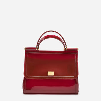 Women's Handbags | Dolce&Gabbana - SEMI-TRANSPARENT RUBBER SICILY HANDBAG