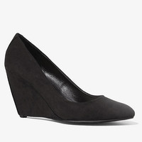 ALMOND TOE WEDGE PUMP from EXPRESS