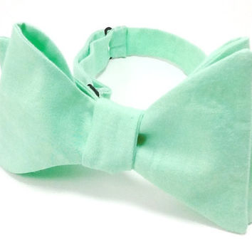 Mint Green Men's Self Tie Bow Tie