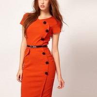 CN_New Womens Sexy Short Sleeve Slim Business Bodycon Pencil ALD Dress