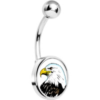Stainless Steel Proud Bald Eagle Belly Ring | Body Candy Body Jewelry