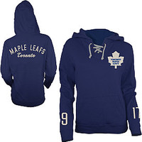 Old Time Hockey Toronto Maple Leafs Women's Queensboro Lace Hooded Sweatshirt