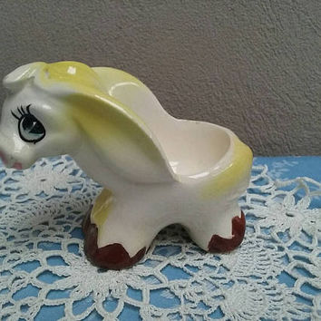 Mid Century Vintage Donkey Egg Cup 1950s Made In Japan Kitsch Donkey