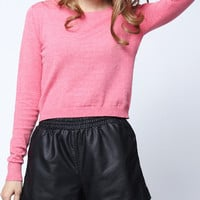 'The Romia' Pink Knitted Long Sleeve Sweater
