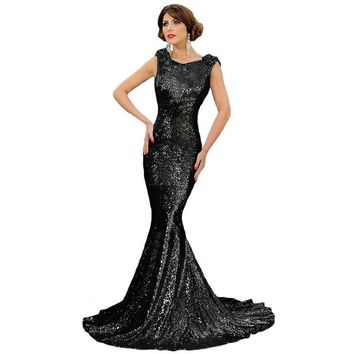 Backless Sleeveless Butterfly Mermaid Star Party Ball Gown Dress [6516388167]