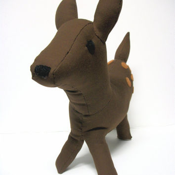 Deer Stuffed Animal Ecofriendly Imogene by RopeSwingStudio on Etsy