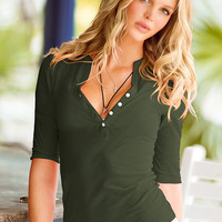 The Essential Henley Tee - Essential Tees - Victoria's Secret
