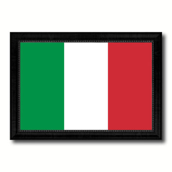 Italy Country Flag Canvas Print with Black Picture Frame Home Decor Gifts Wall Art Decoration Gift Ideas
