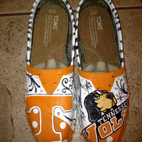 University of Tennessee hand painted TOMS