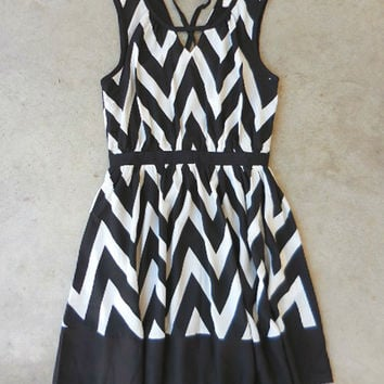 Black & White Chevron Dress