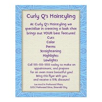 Hairstylist Ad - Blue Tangle Abstract Flyer