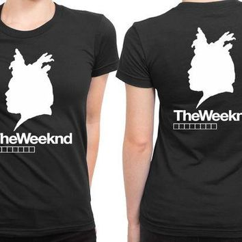DCCK7H3 The Weeknd Siluet Three 2 Sided Womens T Shirt