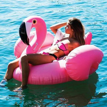 Giant Inflatable Flamingo 60 Inches Unicorn Pool Floats Tube Raft Swimming Ring Circle Water Mattress Boia Piscina Adults Toys