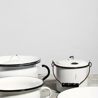 Vintage Enamelware Pot & Bowl Set - Urban Outfitters
