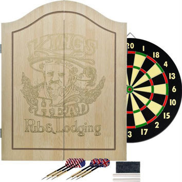 TG King's Head Value Dartboard Set - Light Wood