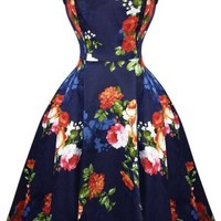 Azure Floral Dress by Hearts & Roses, London