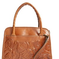 Patricia Nash 'Winter Rose - Paris' Italian Leather Satchel