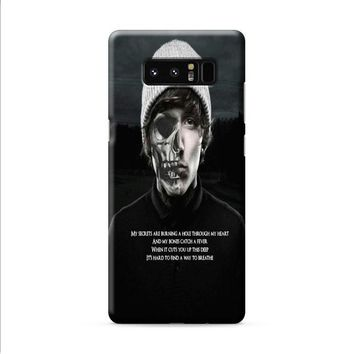 oliver sykes bring me the horizon skull Samsung Galaxy Note 8 case