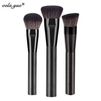Pro Face Makeup Brushes Set 3pcs Powder Foundation Blush Bronzer Cream Highlighter Cosmetic Beauty Tools Kit
