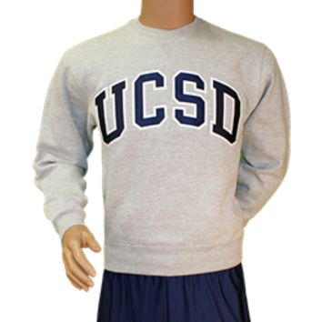 UC San Diego Bookstore - UCSD Twill Crew Sweatshirt by Gear for Sports