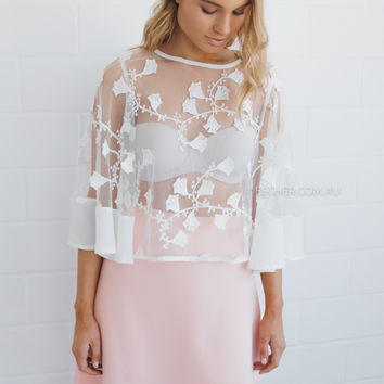delilah lace top - ivory