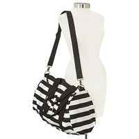 Mossimo Supply Co. Striped Weekender Handbag with Removable Crossbody Strap - Black/White