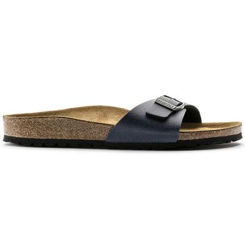 Birkenstock Madrid Birko Flor Pull Up Navy 1001469/1001470 Sandals - Ready Stock