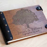 Wedding Guest Book, Guestbook, Customized, Tree, Custom Guest Book, Wood Guestbook