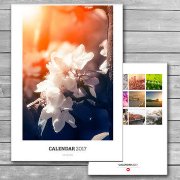Four Seasons, Photo Calendar, 2017 Calendar, A3, Seasons Photography, Wall Calendars, New Year's, Monthly Wall Calendar, 2017, Nature Photos