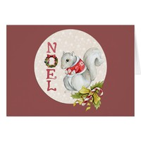 Festive Noel Squirrel Card