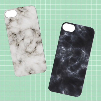 Marble iPhone Cases | White Black iPhone 4/5/6 Tumblr Cute Cool Kawaii Seapunk  *ON SALE*