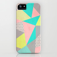 Geometric Pastel iPhone & iPod Case by Louise Machado