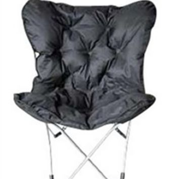 Overfilled Butterfly Chair - Ultra Padded Black