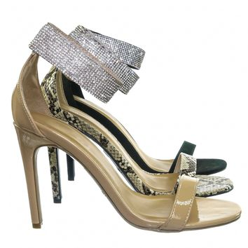 Timeless30 Rhinestone Ankle Strap Sandal - Women High Heel Open Toe Evening Shoe