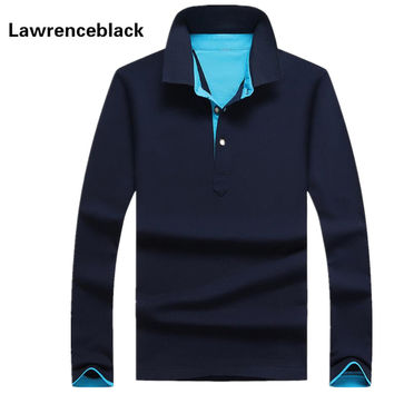 Polo Men Cotton Anti-Wrinkle 2016 New Brand Mens Designer Polos Hombre Casual Long Sleeve Solid Polo Shirts Homme Plus Size 33