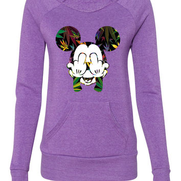 mickeys fingers ladies sweatshirt
