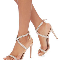 Aquazzura Sweet Lover Crystal Suede High Heel Sandals - INTERMIX®