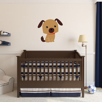 Puppy Wall Decal - Nursery Vinyl Wall Decal - Dog Vinyl Wall Decal - Kids Room Decor - Boys Room Decor 22541