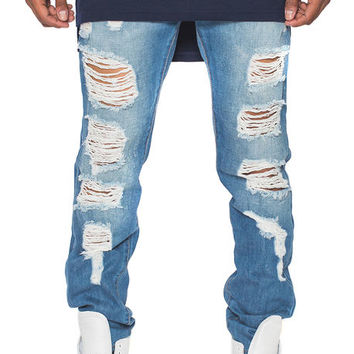 The Pasikea Ripped Denim in Blue